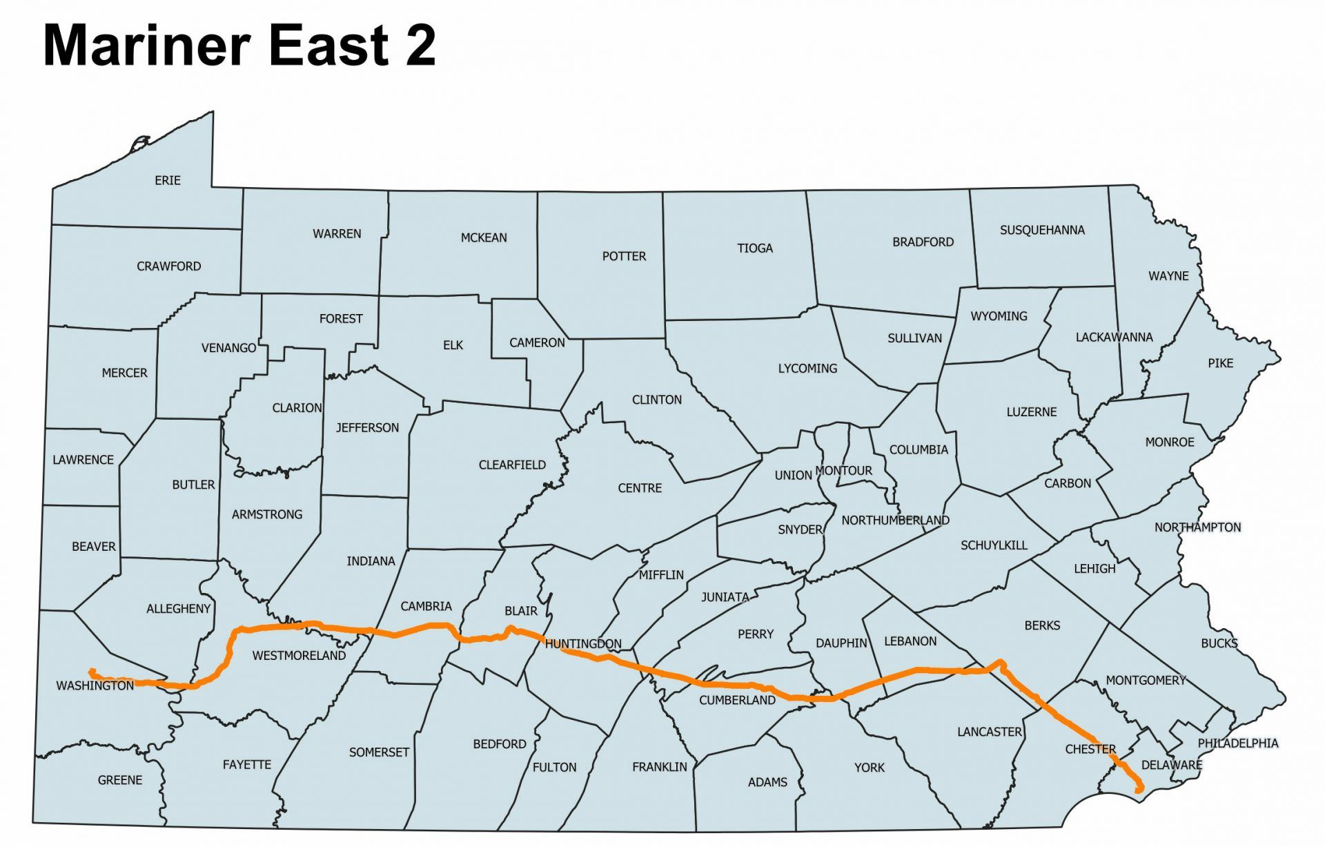 Mariner East Pipeline Map