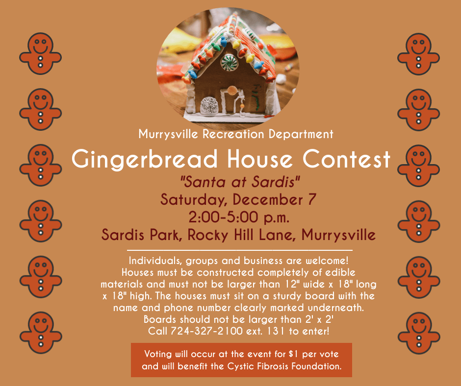 Gingerbread house contest flyer