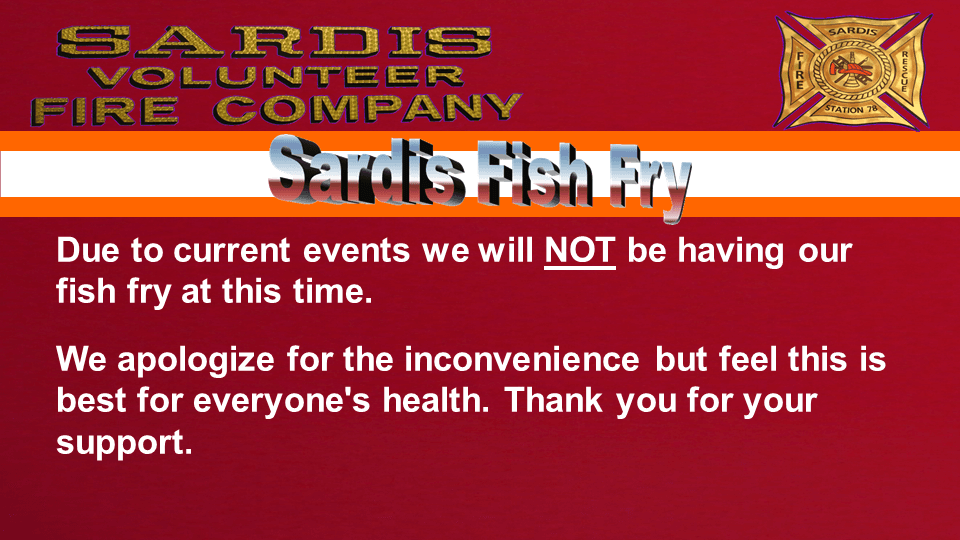Sardis Fish Fry Cancelled 3-20-20 Slide1
