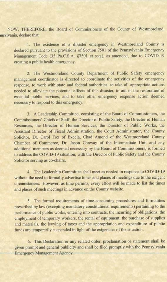 West County Declaration 2